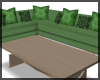 Couch 9 Seats Green
