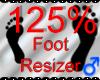 *M* Foot Resizer 125%