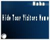 [ph]x Hide Visitors Name