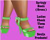 Springy Heels (Green)