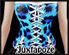Blue Leopard Corset