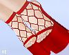 *V Red Mesh Heels
