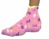 x's and o's pj socks