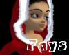 (F)Red Hoodie w/Fur