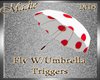 !a Fly W/Umbrella Red/Wh