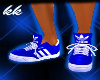 ![KK] BLUE ADIDAS KICKS