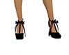 Gothic heels black purpl