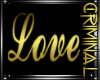 Gold Love Wall Sign