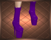 Purple Fringe Boy Boots