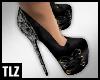 [TLZ]Blk Snake bow heels