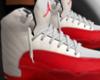 jordan 12 red &white