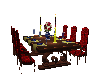 Red Wedding Table
