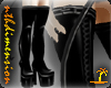 Simple PVC Thigh Boots M