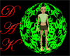 Green Burst Aura