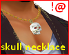 !@ Skull necklace male