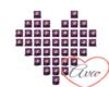 Purple Animated Heart