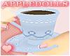 *A Flower Tea Cup - Blue