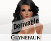 Derivable long hairstyle