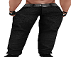 Black Denim Muscle Pants