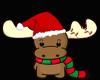 CHRISTMAS MOOSE RUG