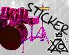 [XO] Drumset, Pink