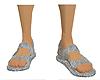 Glitter Sandals Silver