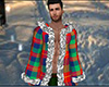 Plaid Winter Fur Robe M
