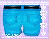 Blue HeartPocket Shorts