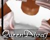 [QD7] White Casual T-shi