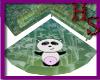 [HS] Panda corner rug