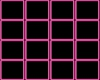 Neon Wall Divider Pink