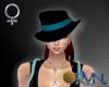 RVN♥ Mobster Hat Teal