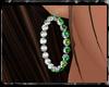 {J} Emerald Hoops