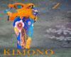 Kimono Orange Blue