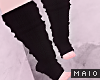 🅜 LEG WARMERS: black