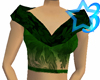 Green Flowers Top