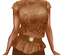 TF* Rust Sheer Lace Top