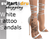 White Tattoo Sandals