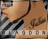 {B} Jalisa Neck Tattoo