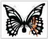 Black Butterfly Bench