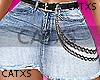 ♥Skirt Denin Chain RL