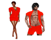 Red PJ Top Couple M