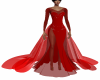 Red Tripple Train Gown