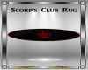 Scorp's Club Rug Oval