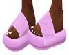 Pink Velcro Slides
