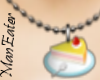 ! Cheese cake necklace