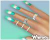 Tie Die Nails Rings