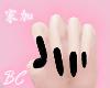 midnight black nails