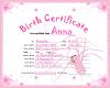 Anna BirthCertificate