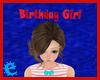 [E] Bday Girl Head Sign
